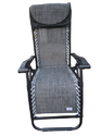 Folding Gravity Recliner Chair-GREY-PLAIN