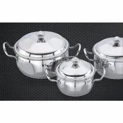 Black Berry Stainless Steel Handi Set