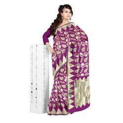 Festive Wear Ladies Banarasi Silk Sarees, With Blouse Piece