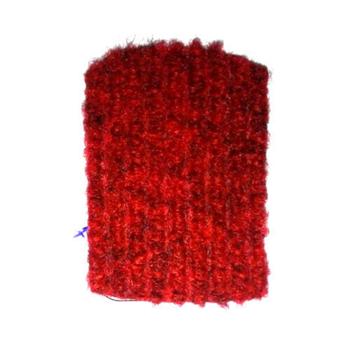 Designer Nylon Dark Red Door Mat