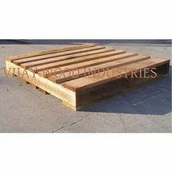 Rubber Wood Pallet, Dimension/Size: 48 X 40 X 5.55 Inch