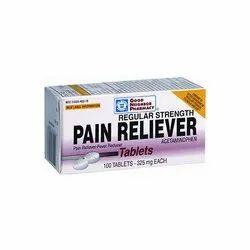 Acetaminophen Pain Reliever, 100 Tablets, Prescription