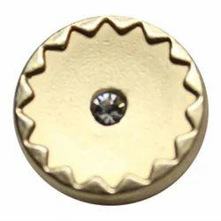 Golden Polyester Shirt Metal Button