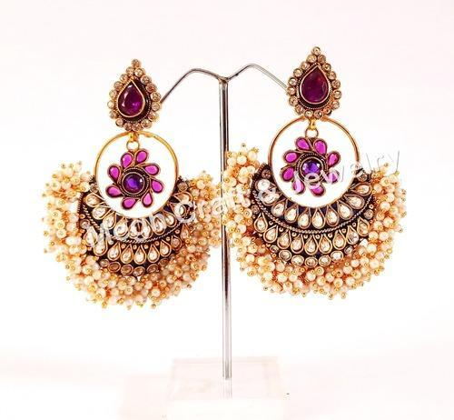 Megh Craft South Indian One Gram Gold Jhumka Earring Wedding Wear
