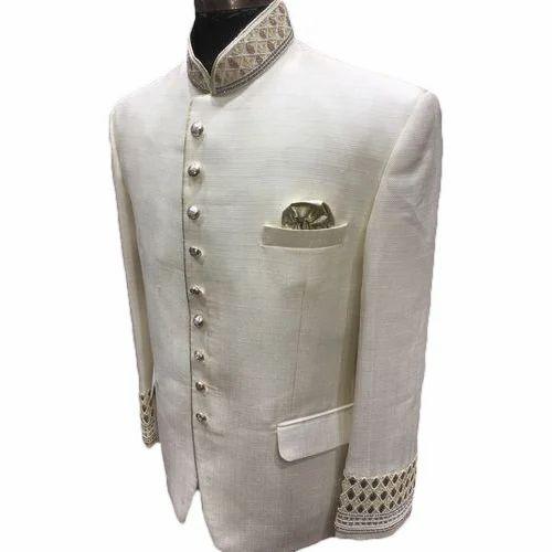 Cotton Linen Mens Designer Wedding Suit