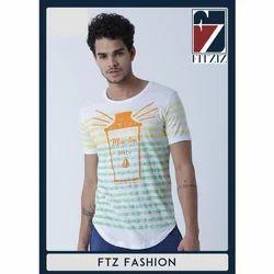 Fitziz Cotton Mens Fancy Round Neck T-Shirt