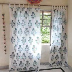 Hand Block Print Traditional Curtains