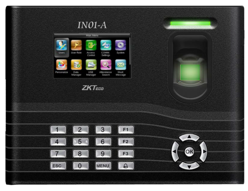 Zkteco In01 A Fingerprint Time Attendance & Access Control Terminal With  3000 Fingerprint Capacity