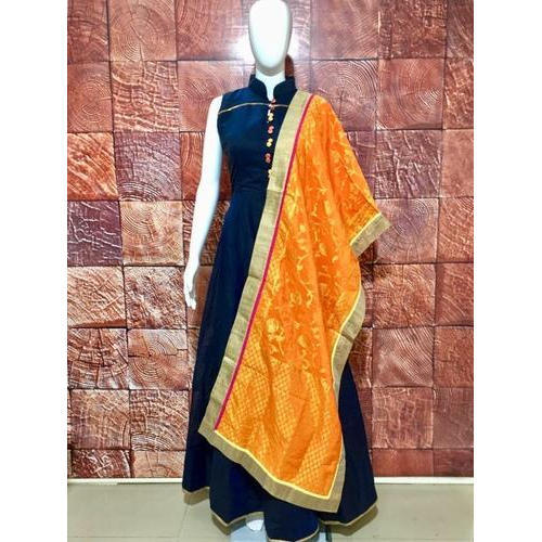 874b0fb0c9 Silk Plain Floor Length Anarkali Suit, Rs 1100 /piece, Kanishka ...