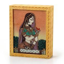 Gemstone Painted Wooden Jewelry Box 355