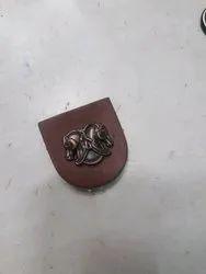 Leather Peach Button