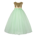 Satin And Cotton Party Wear Princess Dresses For Kids Girls