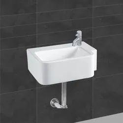 simpolo & Johnson Wall Mounted Ceramic Bathroom Wash Basin, For Hotel