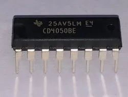 CD4050BE TI Buffers and Line Drivers Hex Non-Inverting IC