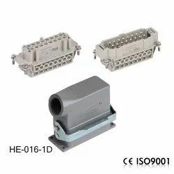 HDC- HE-016 16A 500V 16-Pin Heavy Duty Connector Side Double-Lock