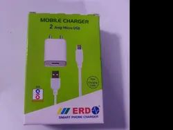 White Travel ERD 2 Amp Mobile Charger