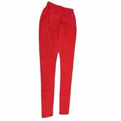 Red Cotton Ladies Stretchable Legging