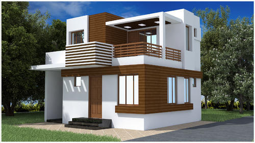 Duplex House Elevation Design, Exterior Designers