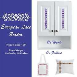 European Lace Border Stencil