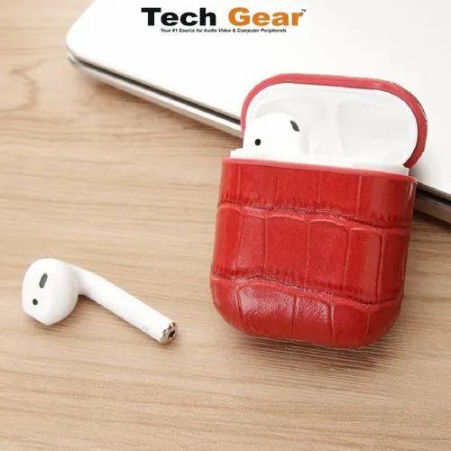 Tech Gear Leather Crocodile Pouch For Apple Airpod Case