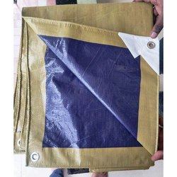 Moksh Brown And Blue HDPE Tarpaulin Sheet, Packaging Type: Bundle, Size: 38 X 12 Feet