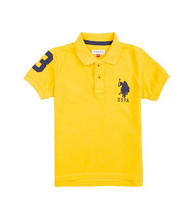 9685f4f876a Yellow U S Polo Assn Boys Solid Piqued Cotton Shirt