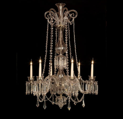 Contemporary Glass Chandelier, Shape: Spiral