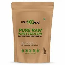 Healthoxide Pure Raw Whey Protein Concnetrate 80% 500 Gm