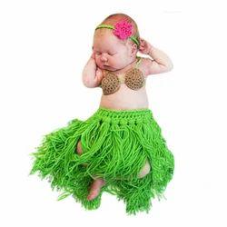Babymoon Baby Crochet Fringe Dancer Designer (Headband, Bralette & Skirt) (Set Of 3)