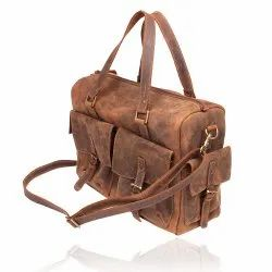 Hand Handled Brown Satchel Bag, for Casual Wear