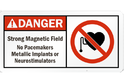 Electric and Magnetic Field Signs Board