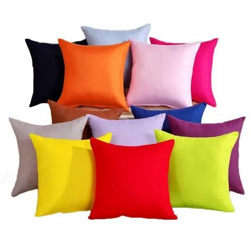 Plain Colored Square Cotton Pillow For Home Rs 99 Piece Eagle India Exim Id 22417440097