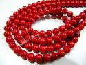 Smooth Round Red Coral Beads