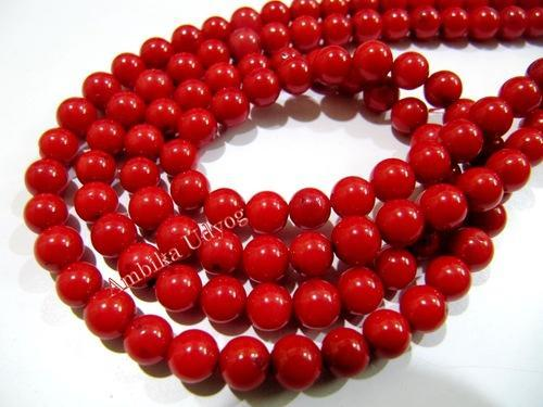 27319598818c7 Smooth Round Red Coral Beads