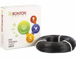Black Copper Bonton Electric Cable, For Industrial, Insulation Thickness: 0.7 mm
