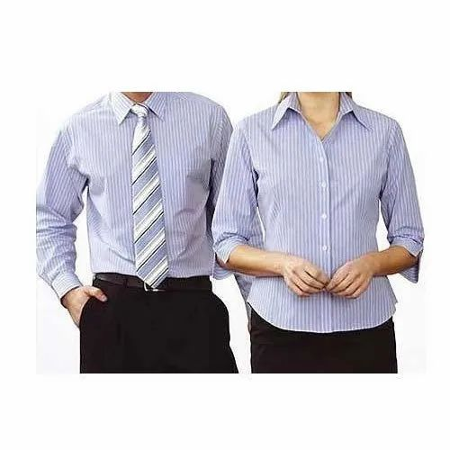 Mysoul Cotton Collar Neck Corporate Uniform