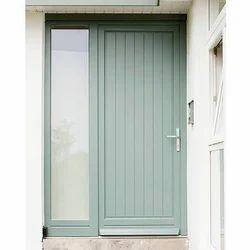 Green Aluminum Casement Door for Home