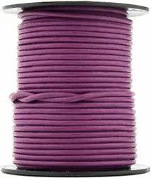 Magenta Round Leather Cord
