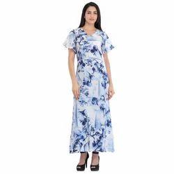 Cottinfab Women's Floral Printed Maxi Dress