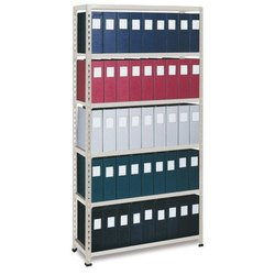 Modern Steel Slotted Angle Rack, Capacity: Up to 250 Kg per Level