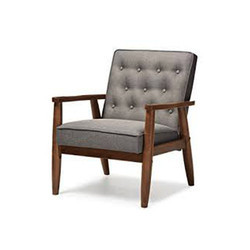 Gray Wooden Chair