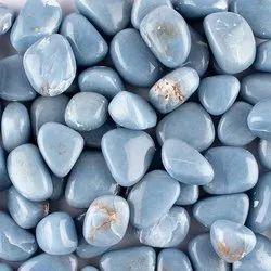 Natural Angelite Gemstones Tumbles