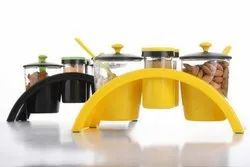 Bowl 4 Spice Pickle Stand, Packaging Type: Box