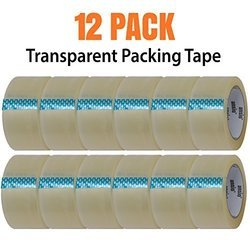 Packing Tape - Transparent - 12 Pack - 60 Metre