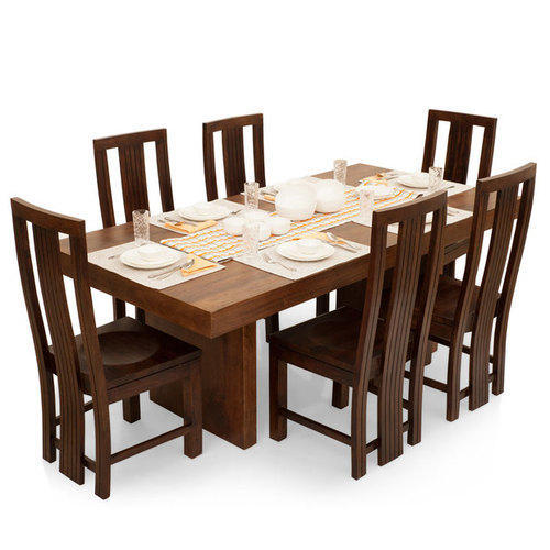 brown wooden dining table rs 150000 set aura furnishings id
