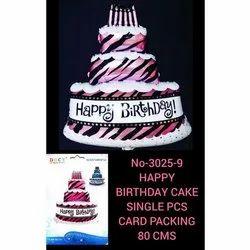 Birthday Cake Foil Balloons