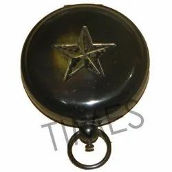 Antique Black Nautical Pocket Compass, As A Item, Packaging Type: Corrugated Box