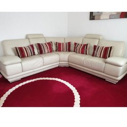 L Shape Designer Corner Sofa Set, for Home