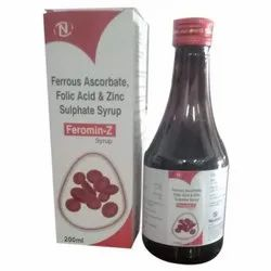 Ferrous Ascorbate Folic Acid and Zinc Sulphate Syrup, 200 Ml