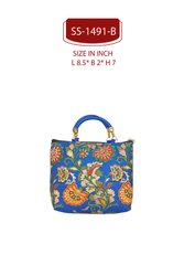 Assorted SHREE SHYAM PRODUCTS Brocade Hand Bags.Silk Hand Bags